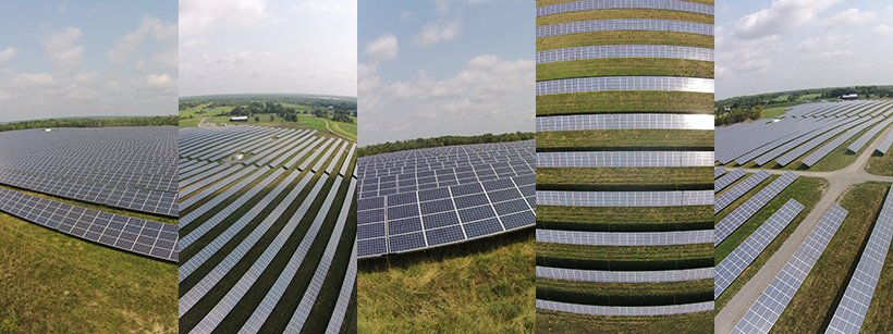 a picture of the solar panel field