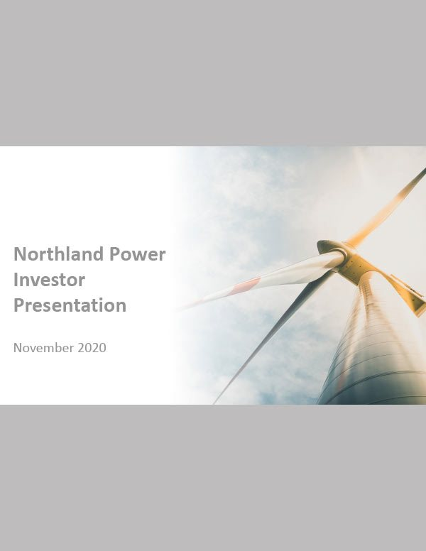 Northland Power Investor Relations Cover